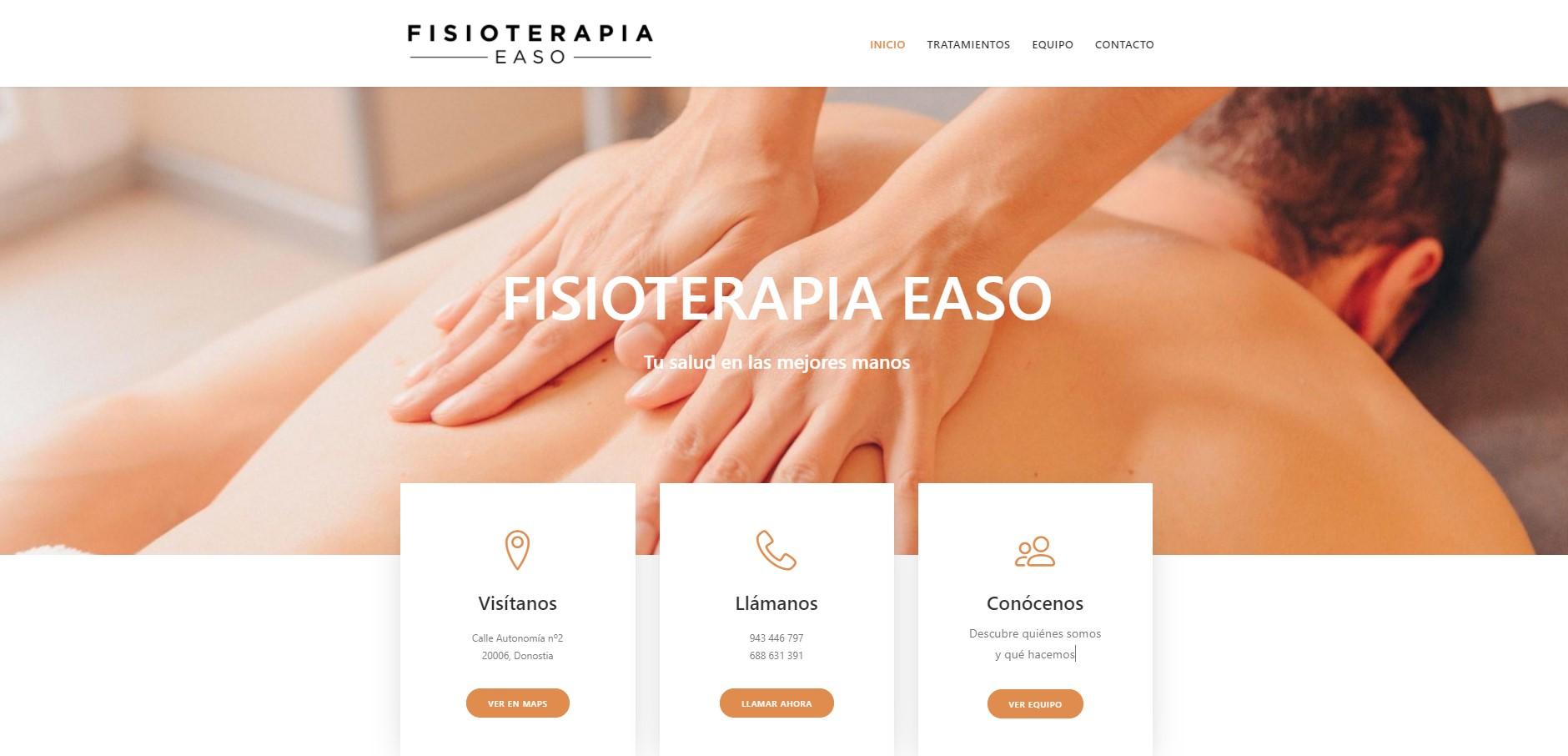 Web Fisioterapia Easo Donostia San Sebastián